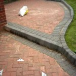 blockpaved rear garden patio. warwick, warwickshire