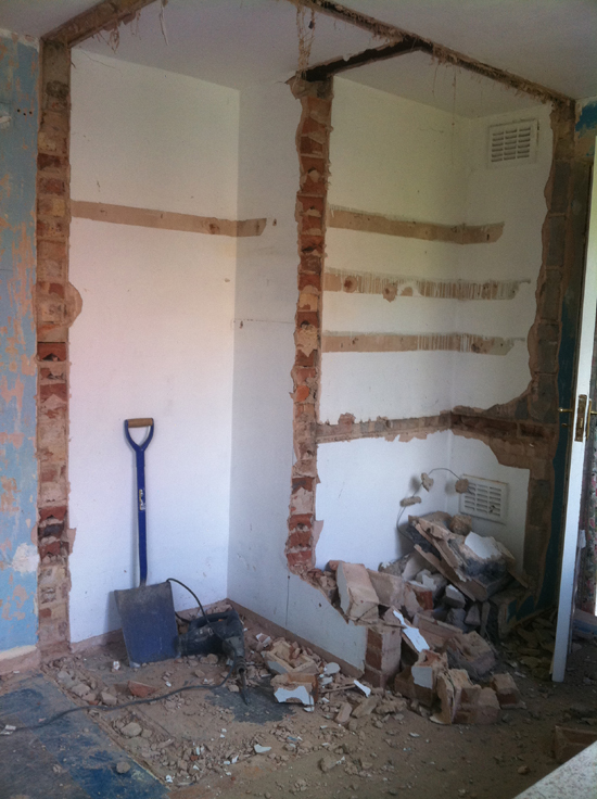 remove built in cupboard and replaster startford upon avon