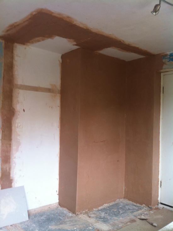 remove built in cupboard and replaster 3