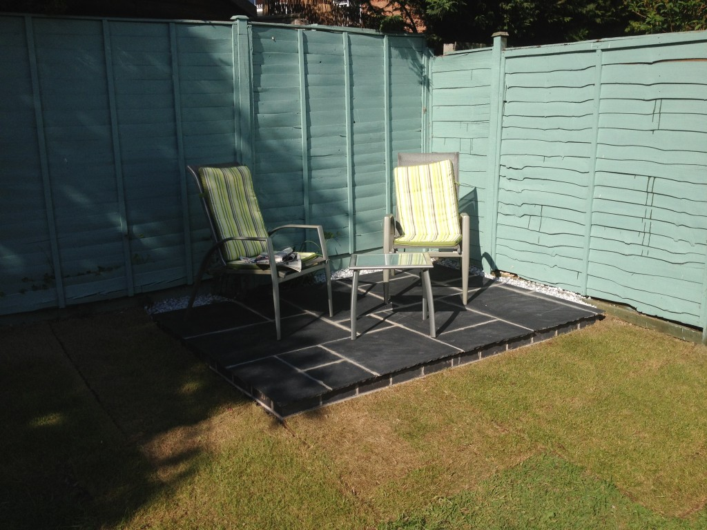 new patio installed. kineton, warwickshire
