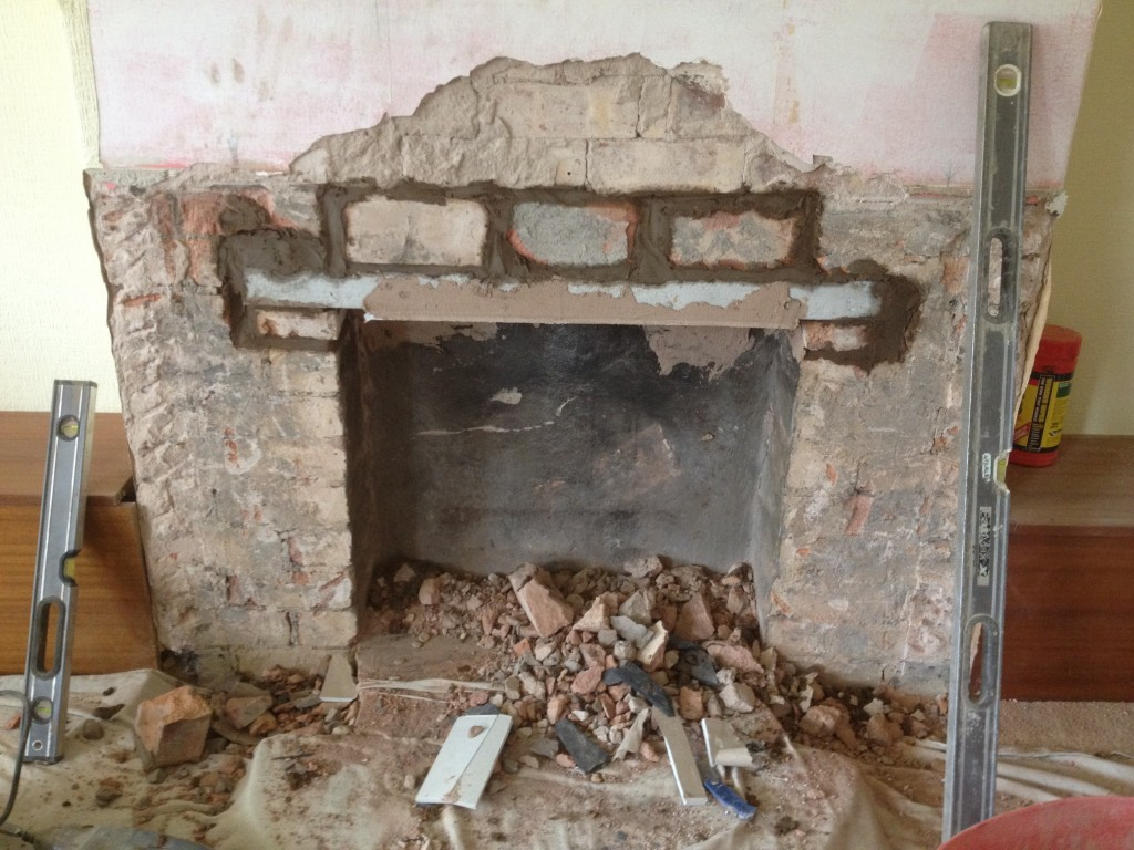 fireplace alterations. kineton, warwickshire