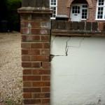 van damged brickwork