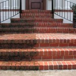 brick step/path pressure washing