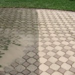 driveway cleaning. pressure washed