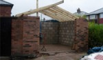 garage build. building warwick, warwickshire