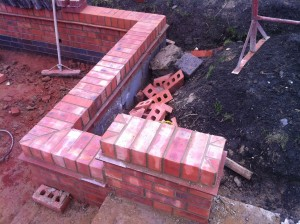 Garden wall by m build builders. built in kineton warwickshire